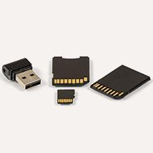 Récupération de données mémoire flash, SD et USB